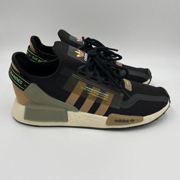 Adidas NMD R1 V2 Black / Cardboard Mens Shoes